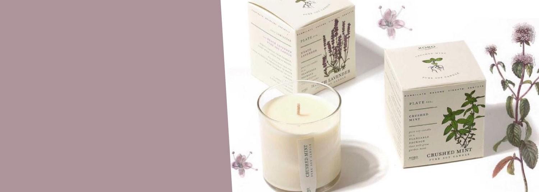 PLANT THE BOX une bougie parfumée au packaging qui se replante, designé par Kobo Candles